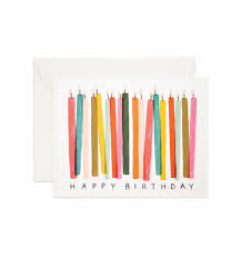 birthday candles birthday candles greeting card by rifle paper co made in usa