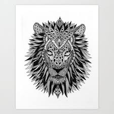lion print 50 amazing art prints of lions for your walls