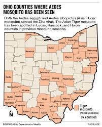 Toledo Ohio Map Ohio Readies For Zika Despite Low Risk The Blade