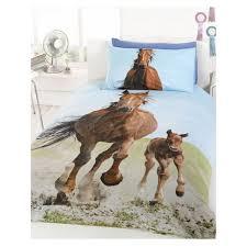 follow my lead horse u0026 foal single duvet cover and pillowcase set