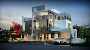 township apartments design 3d rendering new modern bungalow