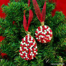 beaded ornaments beaded icicle ornaments wire