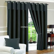 derwent faux silk fully lined dark grey eyelet curtains
