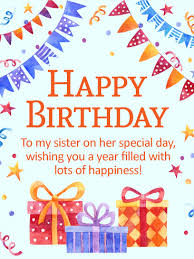 birthday gift box cards for sister birthday u0026 greeting cards by