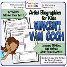 art meets informational text free resource an artist biography