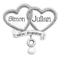 we re engaged ornament 13 95 personalised gifts ennis clare