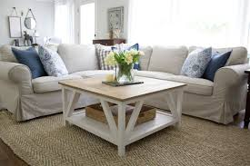 farmhouse coffee and end tables modern farmhouse square coffee table buildsomething com