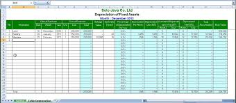 Fixed Asset Register Excel Template Line Depreciation System By Excel