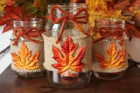 jar centerpiece ideas shabby chic handmade fall jar decor ideas for the home