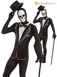 mens second skin suit halloween fancy dress costume stretchy