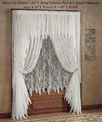 lace window curtains shabby chic curtain and some examples you