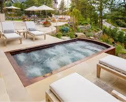 Mountain Lake Pool Design by Outdoor Spas Tubs Baths Diamond Spas