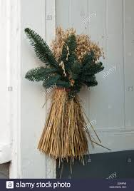 traditional norwegian winter and christmas decoration and bird