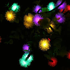 qedertek chuzzle ball solar christmas lights 15 7ft 20 led fairy