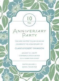 Marriage Anniversary Invitation Card Art Deco Wedding Anniversary Party Celebration Card Emuroom