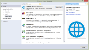 introducing the visual studio 2015 extension for asp net project