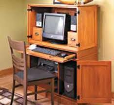 Corner Hideaway Computer Desk Desk In Cabinet Hideaway Office Desks Cabinets White Modern