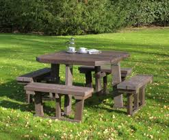 recycled plastic picnic tables greendine square 8 seater recycled plastic picnic table woodberry