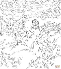 jesus pray in the garden of gethsemane coloring page free