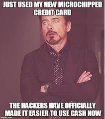 Meme Credit Card - face you make robert downey jr meme imgflip
