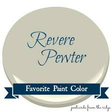 favorite paint color benjamin moore revere pewter postcards