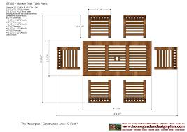 Wood Furniture Plans Pdf by Home Garden Plans Gt100 Garden Teak Tables Woodworking Plans