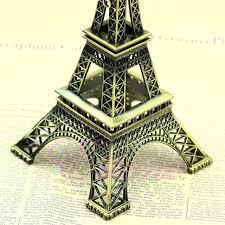 Eiffel Tower Garden Decor Alloy Model Decor 13cm Vintage Bronze Tone Paris Eiffel Tower