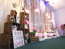 wedding backdrop design malaysia wooden rustic wedding decoration at dynasty dragon seafood