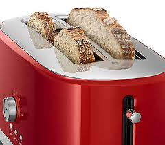 Red 2 Slice Toaster 2 Slice Toaster With High Lift Lever Kmt2116qg Kitchenaid