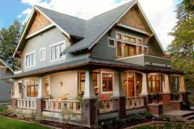 craftsman style home exteriors brown brick front porch pillar