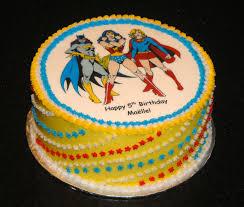 Halloween Themed Birthday Cakes Super Hero Birthday Cake With Batgirl Wonder Woman And