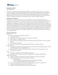 Executive Assistant Job Description Resume by Assistant Medical Assistant Job Description Resume