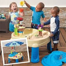sand and water table costco step2 deluxe play kitchen with 38 piece accessory set 2 years