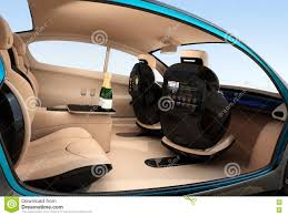 autonomous car interior concept stock illustration image 71646225