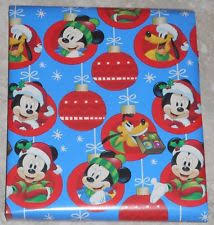 mickey wrapping paper disney mickey friends christmas gift wrapping paper 65 sq ft