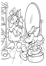 lofty minnie mouse and daisy duck coloring pages free printable