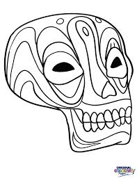 day of the dead u2013 coloring pages u2013 original coloring pages