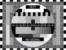 color test tv color test only in black and white color illustration royalty