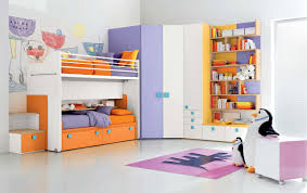 Kids Bed Designs With Storage Modern Colorful Kids Bedroom Design With Nice Storage Cabinets And