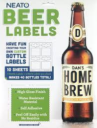 halloween wine labels amazon com neato blank beer bottle labels 40 pack water