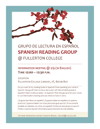 Fullerton College Campus Map Spanish Reading Group Fullerton College Library