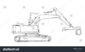 hand draw excavator stock illustration 367580402 shutterstock