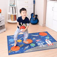Learning Rugs Children Carpet Educational Learning Rugs 100 137cm Galaxy Planets