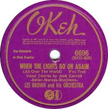 When The Lights Go On 78 Rpm Les Brown When The Lights Go On Again All Over The
