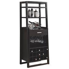 Contemporary Bar Cabinet Contemporary Bar Cabinet Cappuccino Brown Buffets U0026 Cabinets