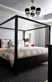 black canopy bed contemporary bedroom emily a clark