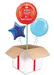 40th birthday balloons delivered keep calm 40th birthday balloon delivered inflated in uk
