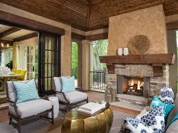 traditional sitting room pocket windows dark stained wood floor