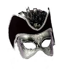 silver gentlemen halloween mask costume mask