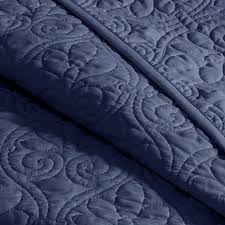 Queen Quilted Coverlet Madison Park Quebec Full Queen Quilted Coverlet Mini Set Navy